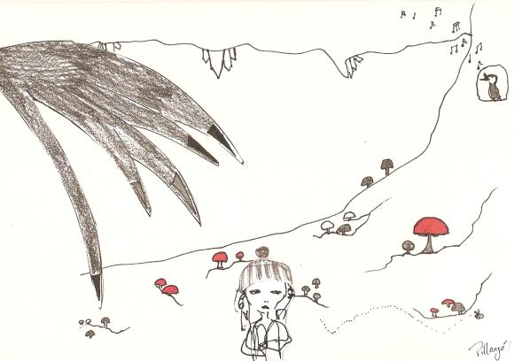 Mädchen in Höhle