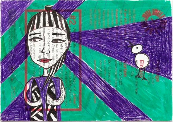 Mädchen und Vogel_grün_PK-1