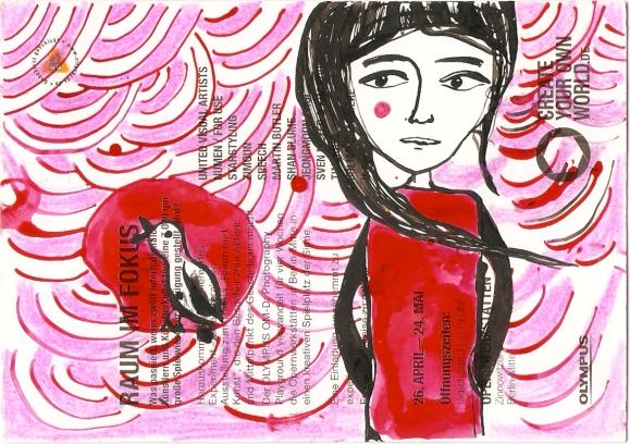 Mädchen und Vogel_rosarot